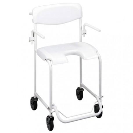 Chaise de douche mobile avec accoudoirs escamotables Alizé